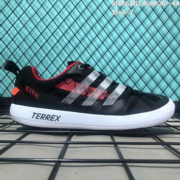 DCCK2 A121 Adidas Terrex CC Boat x Kith Mesh breathable speed interference water shoes Black Red