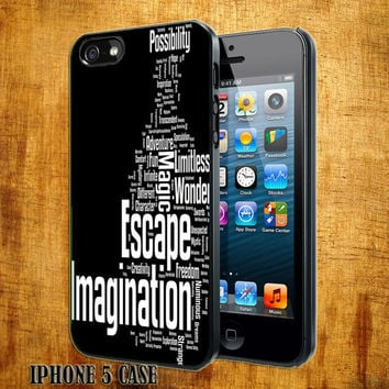 Quote Fantasy starlight  Design On Hard Plastic Cover Case, IPhone 4,4S or IPhone 5 Case, Samsung Galaxy S2,S3 or S4 Case