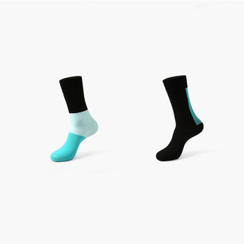 Monochromatic Color 2 Sock Set (Blue & Green)