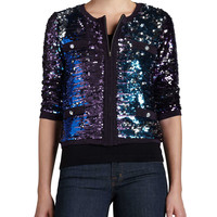 Allover Sequined Jacket,