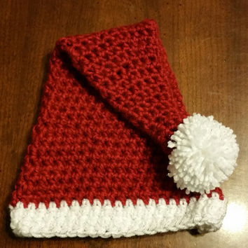Santa hat, photo prop, Christmas, Newborn, Infant, 3-6 month, picture, gift, made to order.