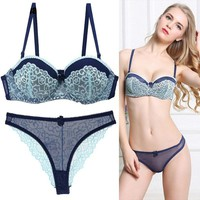 Fashion Lady Bra Brief Sets Lace Push Up Bra Set Women Underwear Girl Sexy lingerie bra+panties underwear suit pj8056