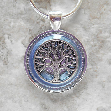 tree of life keychain: violet - unique keychain - tree keychain - celtic keychain - wiccan keychain - valentines day - unique gift - nature