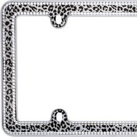 Snow Leopard Bling License Plate Frame