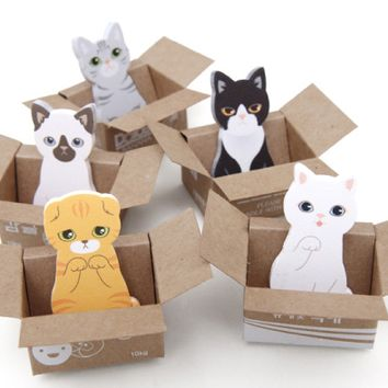 Mini Kitty Box House Sticky Note