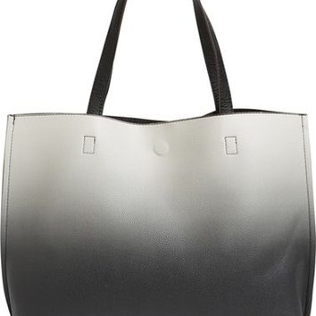 Street Level Ombré Reversible Faux Leather Tote | Nordstrom