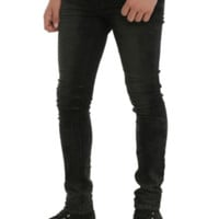 RUDE Indigo Overtone Wash Skinny Fit Denim Jeans