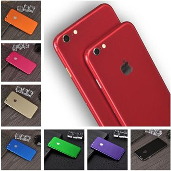 Hot Sell Full Body Candy Color Decal Sticker Wrap Skin Case Cover For iphone 5 5S SE 6 6s 7 8 Plus X Ice Film for 6 6s Protect
