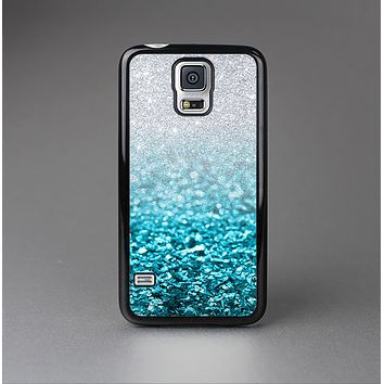 The Turquoise & Silver Glimmer Fade Skin-Sert Case for the Samsung Galaxy S5