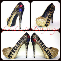 Pittsburgh Steelers Glitter High Heels