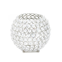 Silver Shimmer Globe Candle Cup