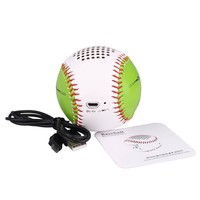 ELEGIANT Baseball Style Handmade Portable TF SD Card Wireless Bluetooth Speaker With Mic Green