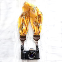 The 'Honey' Scarf Camera Strap with Quick Release Buckles -- 1.5- 2 inches wide