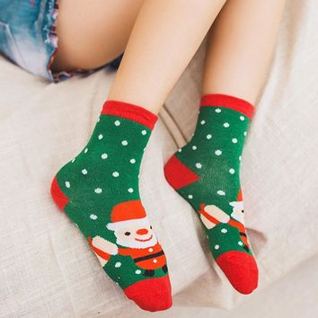 5 Pair Cute Baby Kids Christmas Casual Socks Cute Unisex Socks Winter Stock Children Infantil Novelty Socks