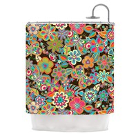 My Butterflies and Flowers Shower Curtain
