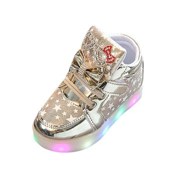 Star Child Colorful LED Light UP Sneaker Shoes for Children