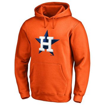 Houston Astros MLB Orange Fastball Fleece Pullover Hoodie