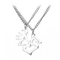 Lover's Necklace Silver Love Browning Deer Body Chain Choker Necklace Jewelry Necklaces Pendants Couple