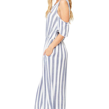 Set Sail Cold Shoulder Jumpsuit