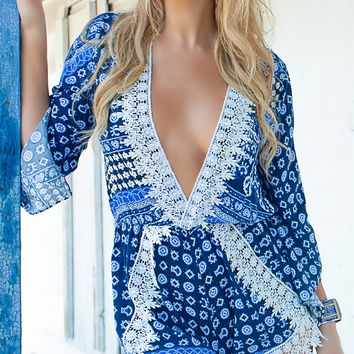 Light Blue Playsuit - Ocean Goddess