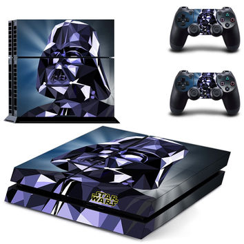 Star Wars Darth Vader Vinyl Decal Skin For playstation 4 Console +2Pcs Stickers For ps4 Controllers
