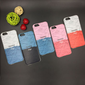 Cute Hot Deal Iphone 6/6s Stylish On Sale Iphone Korean Innovative Summer Patchwork Apple Soft Phone Case [8153010055]