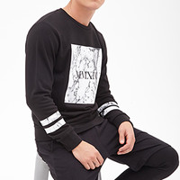 MMXIV Marble Sweatshirt Black/White