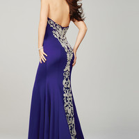 Purple Fitted Prom Dress 20015