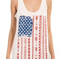 Tribal American Flag Tank Top - elle & k boutique