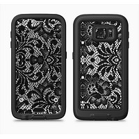 The Black and White Lace Pattern10867032_xl Full Body Samsung Galaxy S6 LifeProof Fre Case Skin Kit