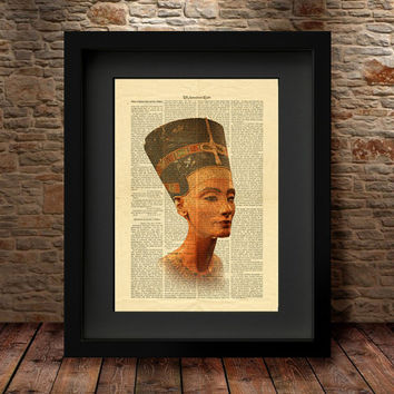 Nefertiti bust Art Print, Wall Art Home Decor, Egypt Queen, Eternal Beauty, Nefertiti print, Nefertiti Poster, Nefertiti art Wall hanging -4