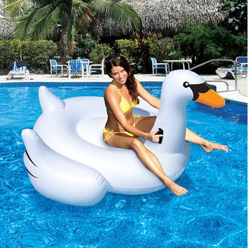 Swimline-Inflatable Ride-On Giant Swan
