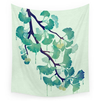 Society6 O Ginkgo (in Green) Wall Tapestry