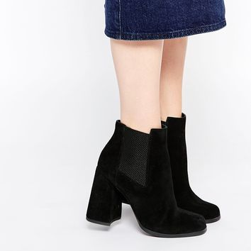 ASOS EDGY Chelsea Leather Ankle Boots