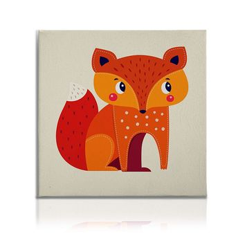Cute Animals Pictures Canvas Wall Art Decal Painting Prints Decor Fox