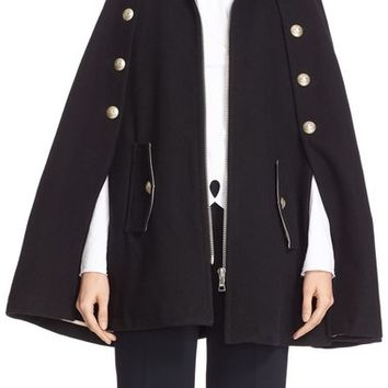 See by Chloé Wool Blend Military Cape | Nordstrom