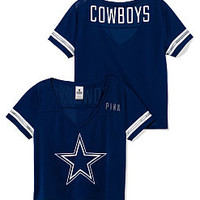 Dallas Cowboys Cropped V-Neck Athletic Jersey - PINK - Victoria's Secret