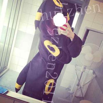 Kigurumi pokemon umbreon hoody pajamas pyjamas jumpsuit romper costume cosplay