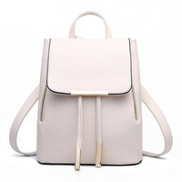 Flap Metal Tip PU BackPack