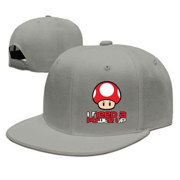 Super Mario Bros- Red Mushroom Power Up Breathable Unisex Adult Womens Hip-hop Hat Mens Baseball Cap
