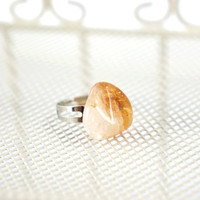 Marigold Citrine Ring, Summer Jewelry, Fresh Yellow Gemstone Ring, Yellow Quartz Stone Jewelry, Summer Time, Bright Color Ring