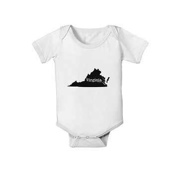 Virginia - United States Shape Baby Romper Bodysuit by TooLoud