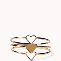 Stacked Heart Bangles