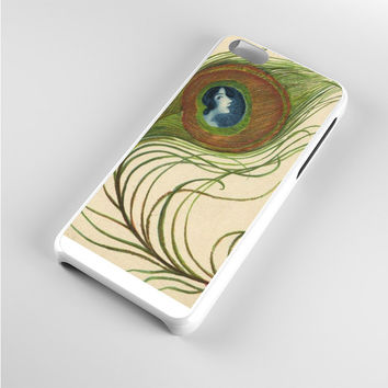 Lady Deco Peacock Feathers Art iPhone 5c Case