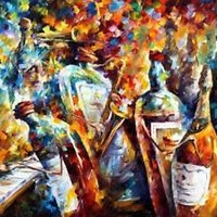 "WEDDING ANNIVERSARY — Oil Painting On Canvas By Leonid Afremov Size: 40""x30"""