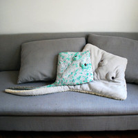 OverSized Handmade Plush- Light Gray Stingray Stuffed Animal // Eco- Friendly // Characteristic pillow or little baby blanket