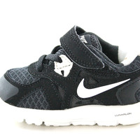 Nike Lunarglide 3 TDV Boy's Toddler's Black//White Velcro Sneakers Shoes 454571 010