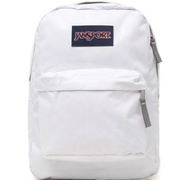 JanSport Superbeak School Backpack - Womens Backpack - White - One