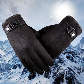 NewFitMe® Men's Leather Touch Screen Driving Gloves