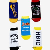 Licensed cool Riverdale High Icons Ladies No Show Ankle Socks Jughead Josie SS Serpents 5 PR